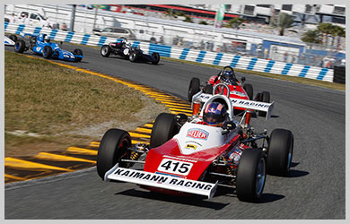 Photo of racing at Daytona.  Volkswagen 50 years in Motorsport.
