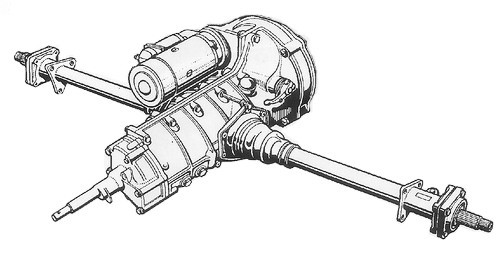 Diagram of rear suspension