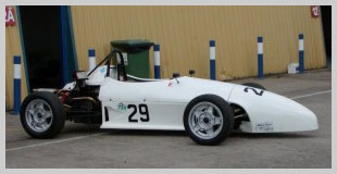 Photo of White Scarab Formula Vee car